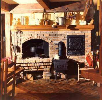 Country Kitchen Fireplace
