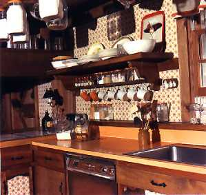 Country Home Plans by Natalie - Country Kitchen Shelves