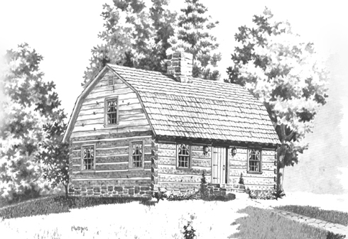 House plans with gambrel roof house design plans for Small gambrel house plans