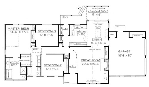 one story country house plan