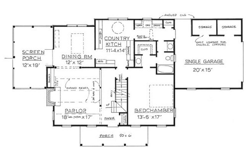 Country Plan F-1680 - First Floor