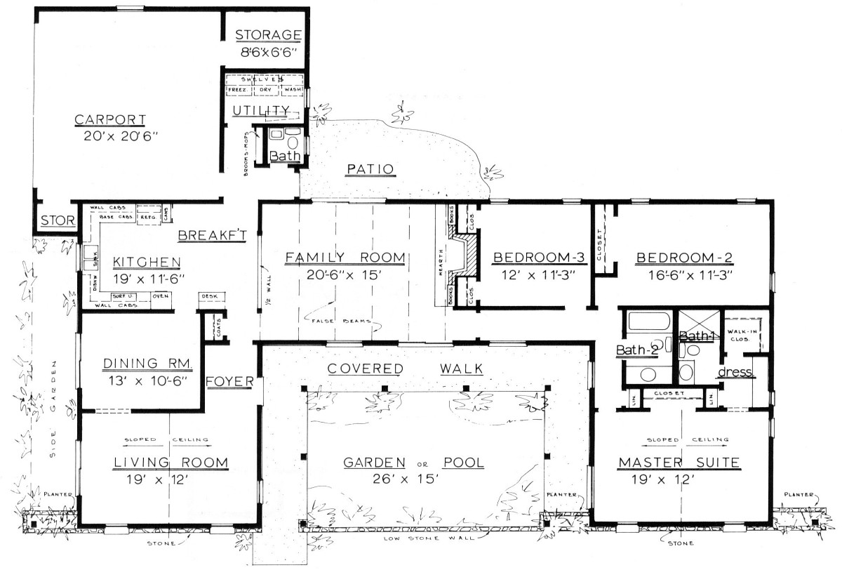 Country Home Plans by Natalie - C-2200